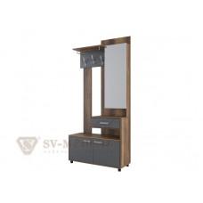 Вешалка с зеркалом (зеркальная) Визит-1(МДФ)