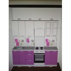 "Кухня  ""Модерн"" (Фиолетовый/Белый металлик)"